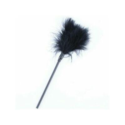 Hosszú fekete madártollas cirógató