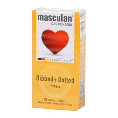 Masculan- Érdes + Bordázott gumióvszer.