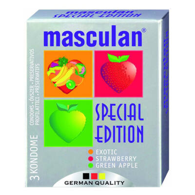 Masculan- aromásított színes gumióvszer 3 db
