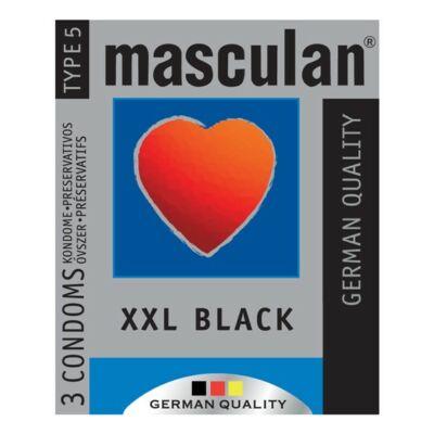 Masculan-XXL fekete óvszer