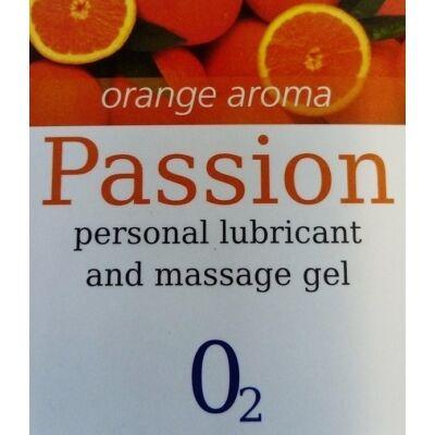 Síkosító és masszázs gél narancs aromával