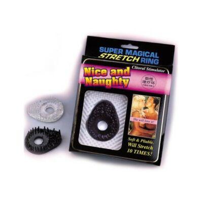 Szilikon péniszgyűrű csikló stimuláló puha tüskékkel