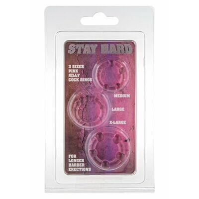 Rózsaszín pénisz gyűrű szett 3 db
