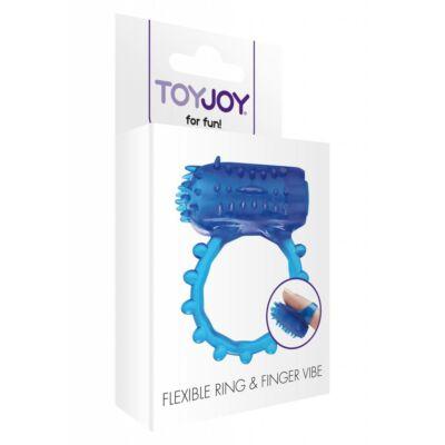 Ujjra húzható vibrátor és gyűrű intenzív vibrációval.